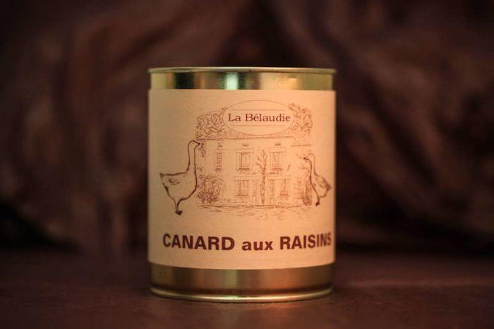 canard aux raisins foie gras palmagri Langon sud ouest