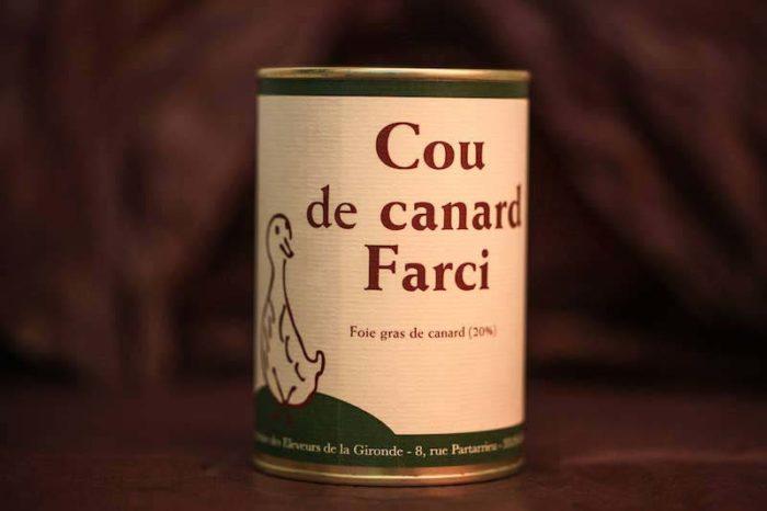 cou farci foie gras palmagri Langon sud ouest