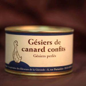 gésiers confits foie gras canard palmagri Langon sud ouest