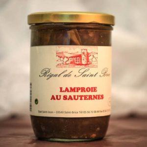 lamproie au sauternes foie gras palmagri Langon sud ouest